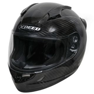XCF3000 Carbon Fiber Full Face Motorcycle Sportbike Helmet Medium MD