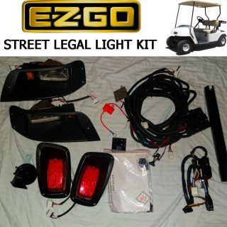 EZGO TXT Golf Cart DELUXE Street Legal Light Kit