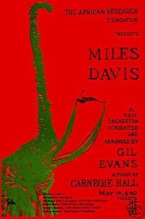 Jazz Miles Davis at Carnegie Hall Concert Poster 1963