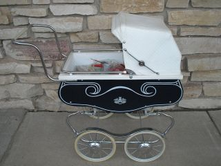 Vintage Pram Doll Baby Stroller Carriage Perambulator Buggy