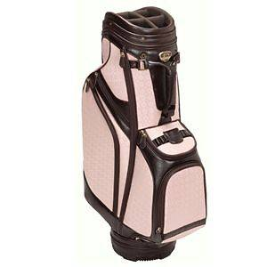 BURTON SIENA LADIES CART GOLF BAG   DARK BROWN W/PINK PRINT