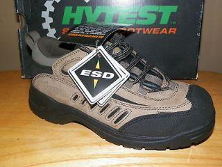 NIB Womens Hytest Steel Toe Slip Resistant ESD Shoe Szs 6 8 Reg $115