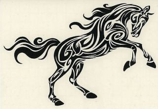 tribal horse sticker horse tribal sticker tattoos. Black Bedroom Furniture Sets. Home Design Ideas