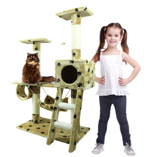 New Cat Tree 47 Play Kitten Condo Furniture Scratching Post Pet House