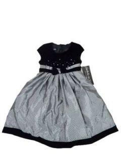 Girls 24 Months Isobella & Chloe Black Silver Formal Dress