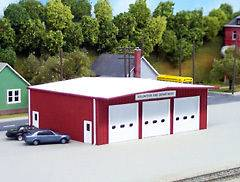 Pikestuff (HO Scale) #192    Fire Station Kit   RED   NIB