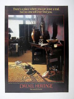 Drexel Heritage Ming Treasures Furniture Collection 1988 print Ad