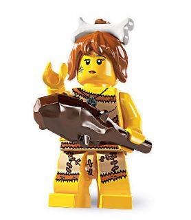 LEGO minifigure Series 5 the CAVE WOMAN #5 8805 SEALED caveman girl