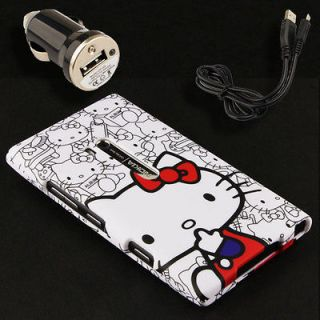 Case+Car Charger for Nokia Lumia 900 Hello Kitty K Holster Pouch Snap