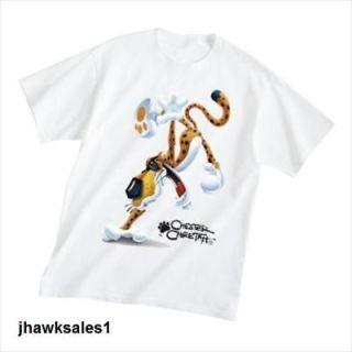 Chester Cheetah White T Shirt 100%Cotton (XLARGE) *NEW