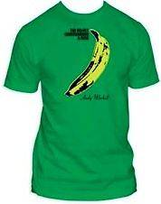 New Authentic Velvet Underground Andy Warhol Banana Green Mens T Shirt