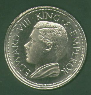 1936 Britain King Edward VIII Abdicated Pattern Crown Coin UNC in