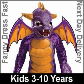 Child Licensed Skylanders Deluxe Spyro Fancy Dress Dragon Costume Kids