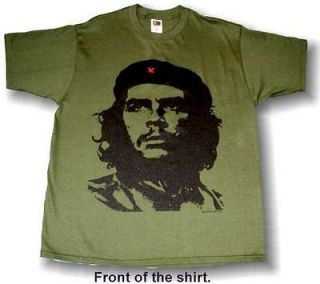 CHE GUEVARA Classic ARMY GREEN T Shirt NEW RETRO PICK