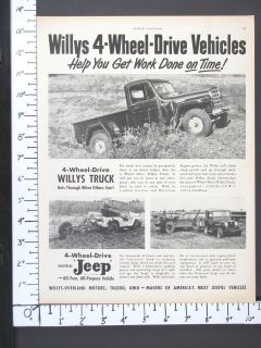 1948 WILLYS OVERLAN​D Pickup Jeep Universal Trucks magazine ad