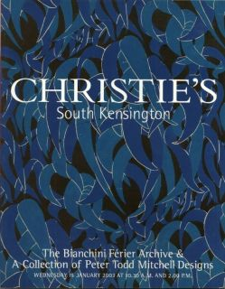 CHRISTIES Textile Design Bianchini Ferier Todd Mitchell Raoul Dufy