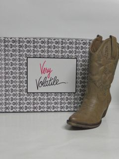 Very Volatile All Synthetic Ladies Western Boots BRITTLE TAUPE non