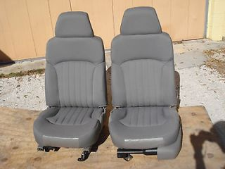 DRIVER BUCKET SEATS CHEVY S10 TRUCK BLAZER SONOMA LIGHT GRAY PEWTER