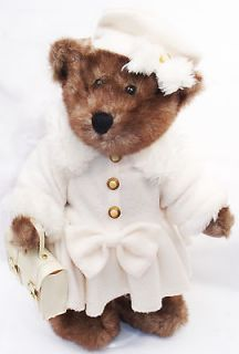 DAN DEE COLLECTORS CHOICE BEAR WHITE DRESS COAT HAT PURSE ON DOLL