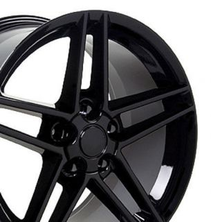 18 Black Corvette C6 Z06 Style Wheels SET Rims Fit Chevrolet Camaro