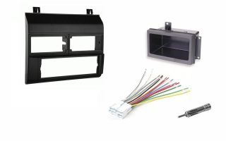 Chevy Pickup Truck 88 94 Black Radio Stereo Dash Kit w/Wire Harness