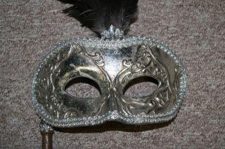 Wayne M. Kleski Mardi Gras Masquerade Mask Paper Mache piece of art