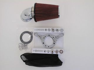 DNA CHROME AIR CLEANER KIT S&S CARB HARLEY INTAKE SYSTEM