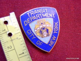 NYPD Transit Dept New York City PD Proud Mini Police Shield Badge Cops