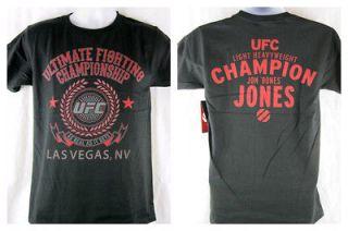 UFC Classic Jon Bones Jones T shirt Black Light Heavyweight Champion
