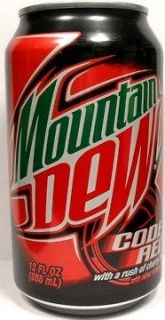 FULL Can Pepsi Mountain Dew Code Red Rush of Cherry USA (2009