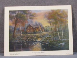 Luminescent Brook Carl Valente Mounted Print