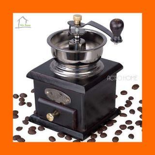 style Hand operated Blackish Brown Coffee Grinder Mill Display KT023