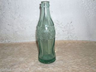VINTAGE COCA COLA GREEN GLASS BOTTLE EMBOSSED 58 31 KEY WEST FLA. 6FL