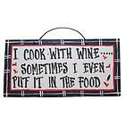 American Made Hand Painted Funny Wine Themed Wooden Plaque Signs