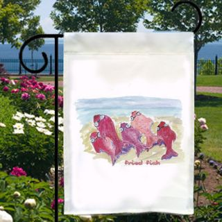 FRIED FISH NEW Small Garden Flag Banner Free Ship USA Home, Boat, Bar