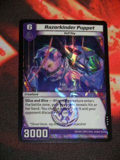 Razorkinder Puppet 85/165 3RIS Kaijudo Rise of the Duel Masters Base