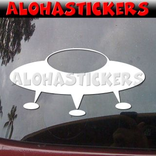 UFO ALIEN SPACESHIP Starship Car Truck Van Laptop Vinyl Decal Window
