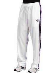 Adidas Originals Mens Firebird Track Pants White Purple