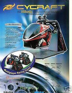 WoW Cycraft Motion Simulator Video Arcade brochure