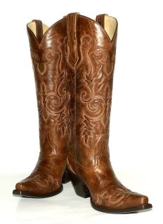 Corral Ladies Tall 16  Shaft WIngtip Toe Western Boots Style G1024