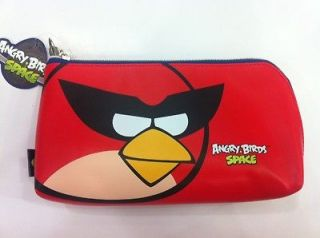 NEW Angry Birds Space Big Pouch Pencil Case ( Red Color )