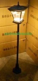 SOLAR POST LAMP W/BRIGHT 30LEDs  NO WIRING & ZERO OPERATING COST