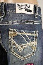 Rock and Roll Cowgirl Jeans Criss Cross Stitched Pockets