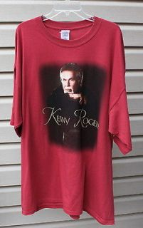 Kenny Rogers T Shirt Top Country Music Unisex Red Gambler Tour Concert