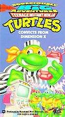 Teenage Mutant Ninja Turtles   Convicts From Dimension X VHS, 1995
