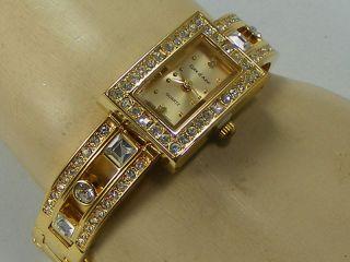 COTE D AZUR Goldtone Rhinestone Watch (C46)