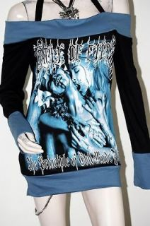 Cradle Of Filth Black Metal Rock DIY Funky Boat Neck Top Shirt