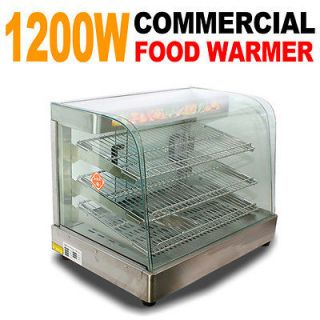 New Commercial Countertop Stainless Steel Food Pizza Display Warmer 25