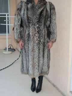 Authentic Crystal Fox Coat~~Full Length ~~Full Pelt