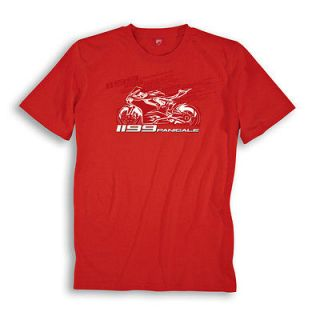 DUCATI PERFORMANCE 1199 PANIGALE SUPERBIKE CORSE RED T SHIRT GRAPHIC